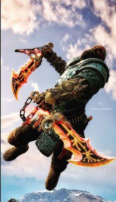 God Of War Series, Lord Of War, War Tattoo, Kratos God Of War, Live Wallpaper Iphone, Alien Vs Predator, Gears Of War, Weapon Concept Art, Gaming Wallpapers