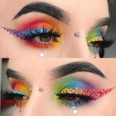 "4,138 Likes, 53 Comments - Katie Kelly ♀ (@kayteeellen) on Instagram: ""Cute little rainbow dot liner wearing @sugarpill #poisonplum #acidberry #flamepoint…"""