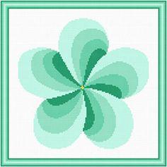Twirl Around Seagreen cross stitch pattern.