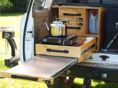 Camping kitchen motorhome 35 ideas - My Home Decor Jeep Camping, Pickup Camping, Truck Bed Camping, Truck Tent, Car Camper, Mini Camper, Camper Trailers, Motorhome, Kangoo Camper