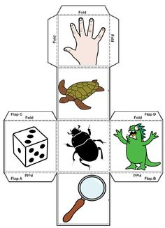 Story Cubes 1 Story Cubes, Speech Therapy Activities, Preschool Activities, Story Dice, Writer Workshop, Toddler Fun, Activity Games, Conte, Teaching English