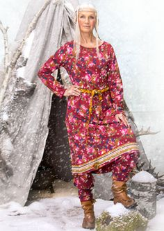 """Lappros"" eco-cotton dress – My own Sami origins – GUDRUN SJÖDÉN – Webshop, mail order and boutiques 