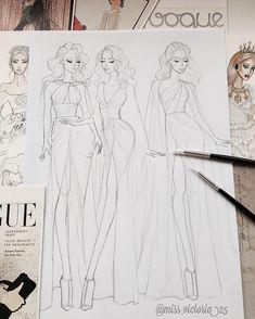 Fashion Design Books, Fashion Design Sketchbook, Fashion Design Portfolio, Fashion Illustration Sketches, Fashion Design Drawings, Fashion Sketches, Fashion Art, Illustration Art, Artist Fashion