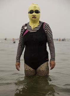 "Do I know you from somewhere? ""Face-kini"" by Kevin Frayer"