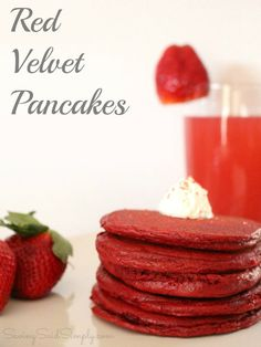 Fresh Take on Everyday Pancakes: Red Velvet Pancakes Recipe Waffle Recipes, My Recipes, Cooking Recipes, Favorite Recipes, Pancake Recipes, Crepe Recipes, Recipes Dinner, Potato Recipes, Casserole Recipes