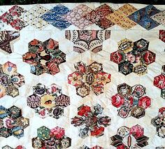 1820 Antique English Pieced Coverlet Quilt Early Chintz 18th century…
