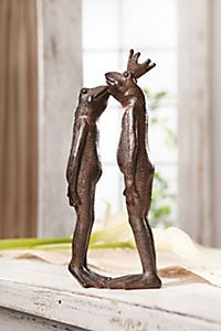 Küssendes Froschpärchen als moderne Dekofigur Garden Sculpture, Outdoor Decor, Animals, Romantic Kisses, Pictures, Animales, Animaux, Animal, Animais