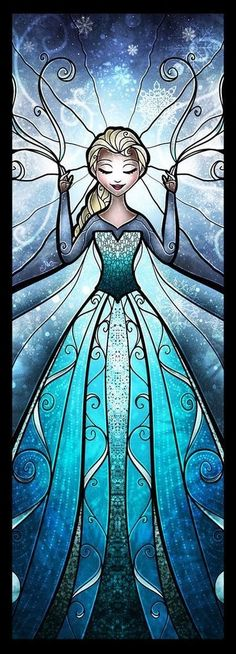 Elsa stained glass