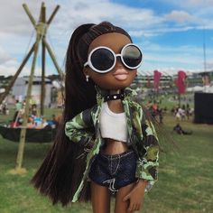 Toy dolls buildings, all aspects conventional timber holds to Barbie Dreamhouses. Bratz Doll Makeup, Bratz Doll Outfits, Black Girl Art, Black Girl Magic, Pretty Dolls, Cute Dolls, Black Bratz Doll, Brat Doll, Bratz Girls