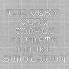 The very, very simple climate model simulation