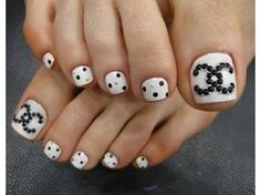 Chanel Nail Designs | Chanel nails design