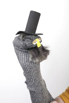 The end result! From the Abraham Lincoln project from Sock Puppet Madness by Marty Allen