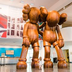 "The highlight of this particular trip to the @brooklynmuseum was the brand-new @kaws exhibition featuring 18-foot towering wood sculptures that ""look like Mickeys!"" (My tiny toddler pictured in the foreground for scale.) - @nickisebastian #ZooeyMagazineTakeover"