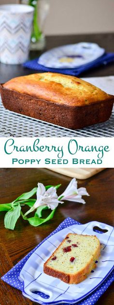 Cranberry orange poppy seed bread. A little bit sweet and a bit little tart, this quick bread is one that will keep them coming back for more.