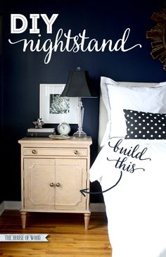 How to build your own DIY Ballard Designs-Inspired Isabella Nightstands. Free step-by-step plans by Ana White and Jen Woodhouse from The House of Wood.