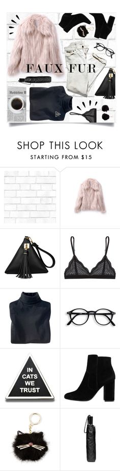 """""""Feels"""" by brynhawbaker ❤ liked on Polyvore featuring Tempaper, Cosabella, Woolrich, MANGO, Kate Spade, Coach, Old Navy and Boohoo"""