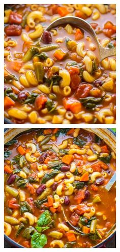 Loaded with flavor, this Italian Minestrone Soup is healthy, comforting, and delicious! #soup #minestrone #pasta #dinner #healthy #souprecipes #Winterrecipes Healthy Good Food, Dinner Healthy, Healthy Foods, Heart Healthy Soup, Healthy Cooking, Cooking Lamb, Italian Cooking, Cooking Oil, Cooking Turkey