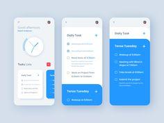Taskmanager - Todo List App by Mizanur Rahman Remon for Crunchy on Dribbble Web Design, App Ui Design, Interface Design, Form Design, Android Design, Android Ui, To Do App, Ui Design Mobile, Iphone Ui