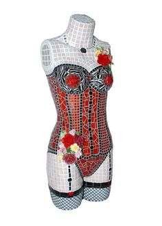 Mosaic Mannequin by FickleNellie on Etsy