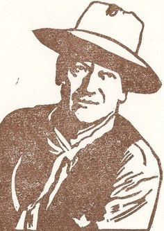 Hand-carved stamped image of John Wayne. - The Toadfrogs 8a51c749259d9