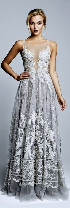 Picture 1 - 50 Unique & Unconventional Wedding Dresses - I would wear this as a prom dress Evening Dresses, Prom Dresses, Formal Dresses, Dress Prom, Grey Wedding Dresses, Wedding Dressses, Dresses 2016, Quinceanera Dresses, Gown Wedding