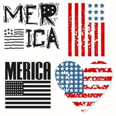 Patriotic Merica American Flag Countrified Set including two humorous Merica… Vinyl Monogram, Monogram Design, Anchor Monogram, Silhouette Cameo Projects, Silhouette Design, Silhouette Files, Vinyl Crafts, Vinyl Projects, Fourth Of July Shirts