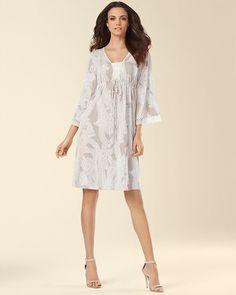 Soma Intimates Crochet Drawstring-Waist Knit Dress Column Paisley   somaintimates b78cf045a