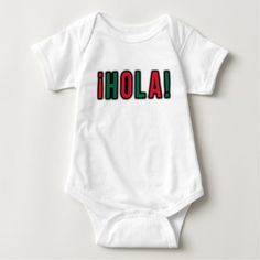Spanish Language Hola Baby Outfit #onesie #babyclothes