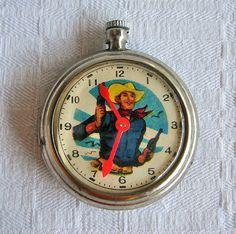 Vintage Cowboy Toy Pocket Watch~~