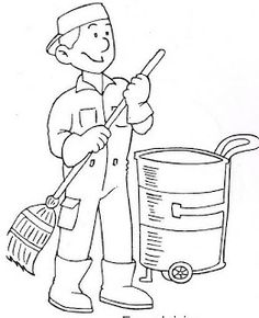 community helper coloring pages - Community Helpers Coloring Sheets