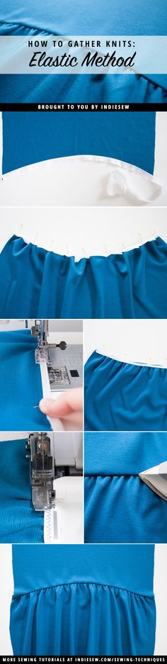 Check out this fool-proof method for 100% perfectly spaced gathers. The elastic does the work for you! | Indiesew.com