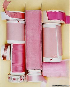 Pretty in pink ribbons. Imagine the possibilites! Ribbon Bows, Pink Ribbons, Pretty In Pink, I Believe In Pink, Shabby, Martha Stewart Weddings, Everything Pink, Happy Colors, Favorite Color