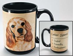 Faithful Friends Cocker Spaniel Dog Breed Coffee Mug http://doggystylegifts.com/products/faithful-friends-cocker-spaniel-dog-breed-coffee-mug