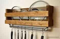 Pot Rack Made From Pallets | A Little Bit of This, That, and Everything
