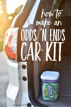 Putting together this easy Odds 'n Ends Car Kit will make everyday travel that much easier -- and keep your car organized! From South to Southwest Lifestyle and Travel Blog #GIVEEXTRAGETEXTRA #Walmart #ad