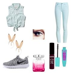 """""""End of the school year ootd"""" by micahisaunicorn on Polyvore featuring Abercrombie & Fitch, Barbour, Aamaya by priyanka, NYX and Jimmy Choo"""