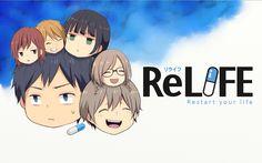 ReLife Anime Desktop Wallpaper