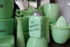 Jadeite, Jadite, or Jade-ite. No matter how you spell it, it's still gorgeous green milk glass. Learn how to tell a McKee from a Jeannette or Fire-King.