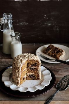 Cookie Dough Cake with Brown Sugar Frosting