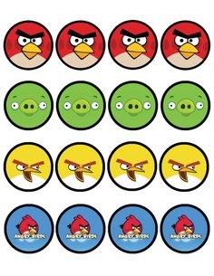 Angry Birds Printables---I am seeing a magnetic soduku game here! Cumpleaños Angry Birds, Festa Angry Birds, Angry Bear, Bird Birthday Parties, Boy Birthday, Angry Birds Cupcakes, Boys Cupcakes, Fondant Cupcakes, Bird Theme