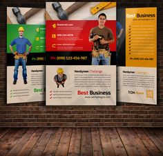 Handyman Services Flyer & Ad Template - Word & Publisher ...