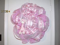 Baby Girl Wreath. $65.00, via Etsy.