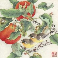 """Orchard Morning"" - Original Fine Art for Sale - © by Jinghua Gao Dalia"