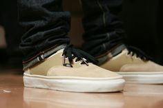 Clean sneaks and subtle cuffs.