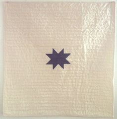 Tiny Star Quilt. Entire hand quilted. 36 inches x 36 inches. 2014. by Ebony Porter
