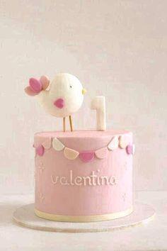 Torta de Renata Toddler Birthday Cakes, 1st Birthday Cake For Girls, Baby Shower Pasta, Baby Shower Cakes, Bolo Laura, Ballerina Cakes, Rabbit Cake, Sweets Cake, Girl Cakes