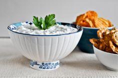 Caramelized Onion Greek Yogurt Dip via @How Sweet Eats