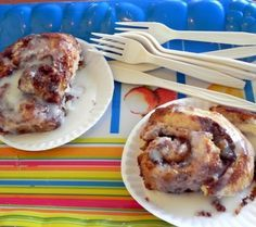 Cinnamon rolls at the Heavenly Biscuit in Fort Myers Beach, Florida. The place isn't fancy, but the baked goods are amazing!