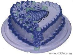 Rose Heart Shape Cake