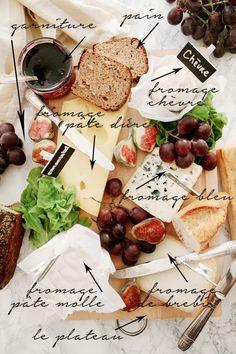 Comment réaliser un plateau de fromages // Perfect cheese plate Tapas, Antipasto, Buffets, Charcuterie And Cheese Board, Cheese Boards, Queso Cheese, Fromage Cheese, Food Porn, Churros